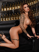 NIGHT CLUB STRIP! GEMMA MASSEY PEELS OFF HER WHITE LINGERIE - ImGemmaMassey.com
