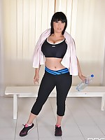 Pee, Baby! - A Gym's Dressing Room Makes Her Pussy Wet free photos and videos on DDFNetwork.com