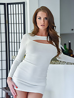 FTV Milfs Silvia Tight White Dress - FTVMilfs.com